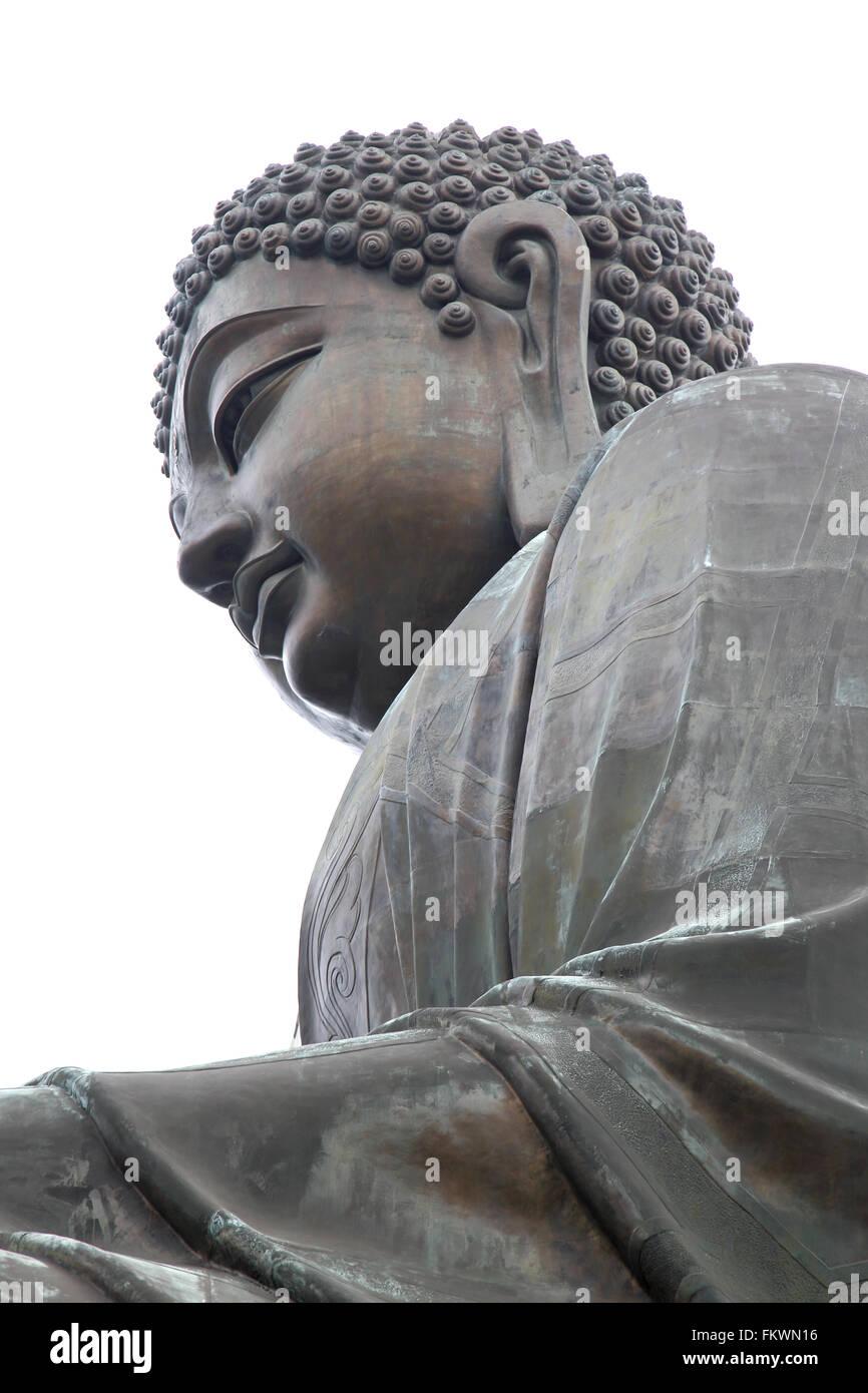 the big buddha at the po lin monastery on Lantau island Hong Kong - Stock Image