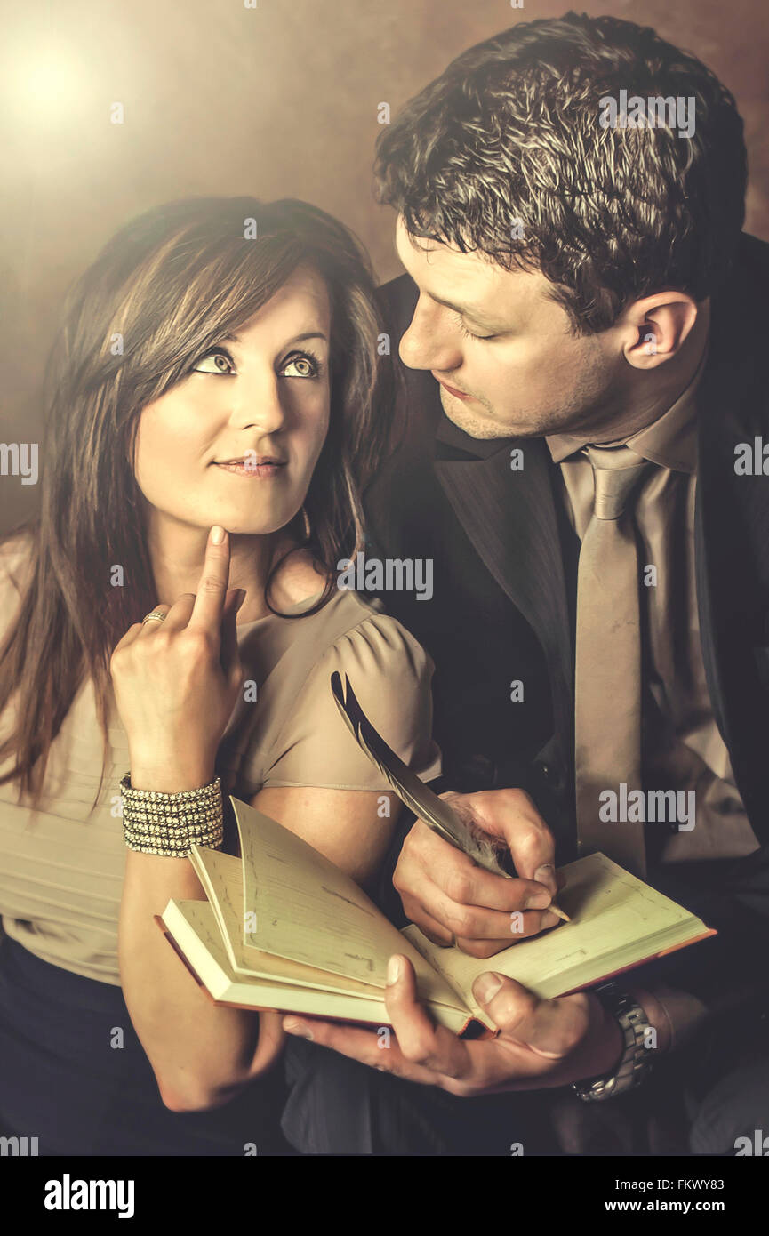 young couple in love - Stock Image