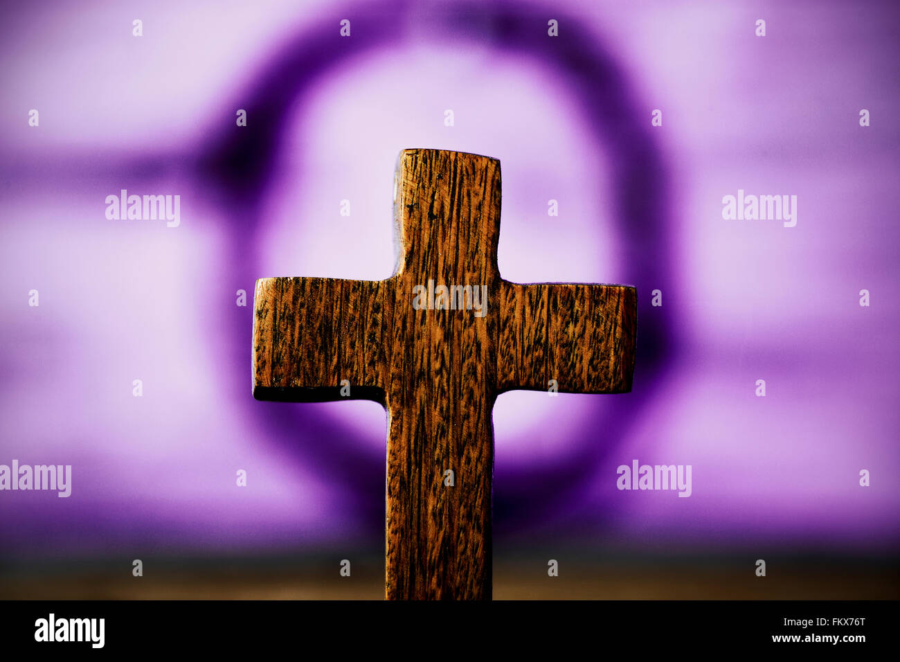 Closeup Of The Blurry Holy Cross And Crown Thorns Jesus Christ In