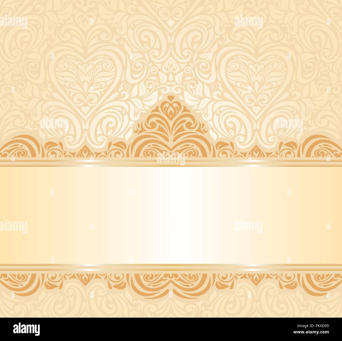 gentle peach wedding invitation floral  background pattern - Stock Vector