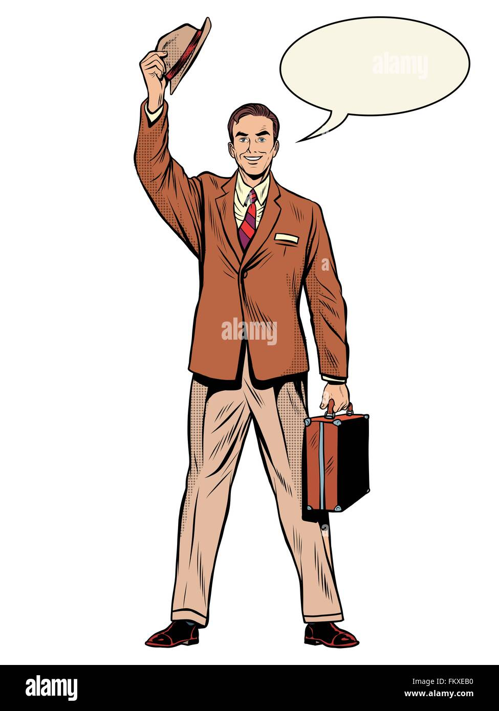Man businessman salesman - Stock Vector