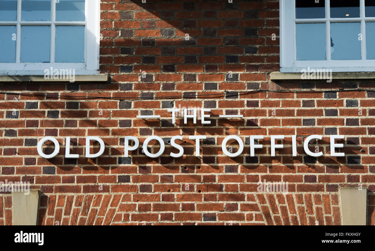 The Old Post Office Restaurant Sign Wallingford Oxfordshire Stock