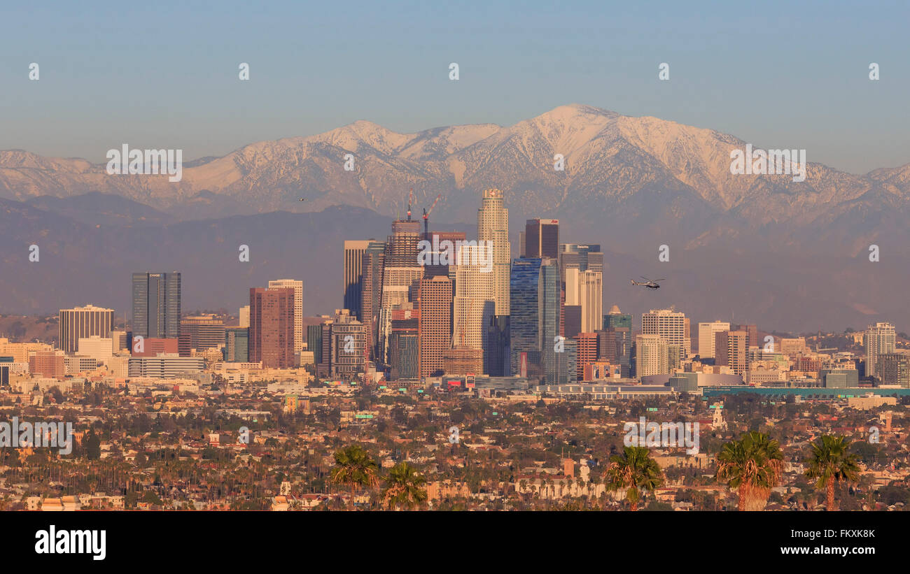 Classical view of Los Angeles Downtown at Kenneth State Park Stock Photo
