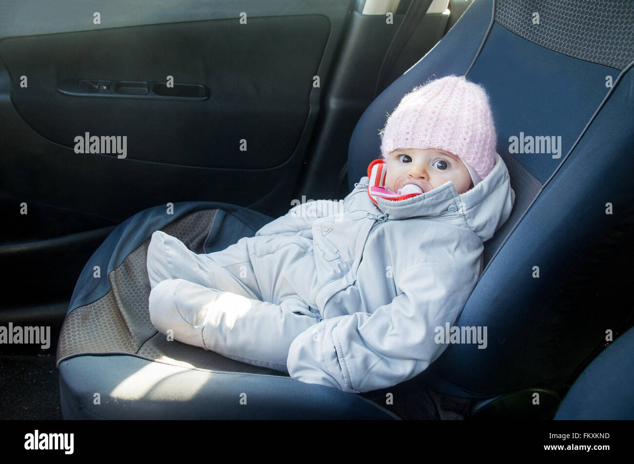 Onesie Stock Photos Images Alamy Sugar Baby Infant Seat Blue Newborn In Car Sitting On Front Dressed For Winter Image