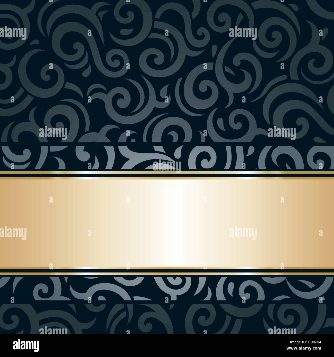 Black Gold Luxury Vintage Wallpaper Background