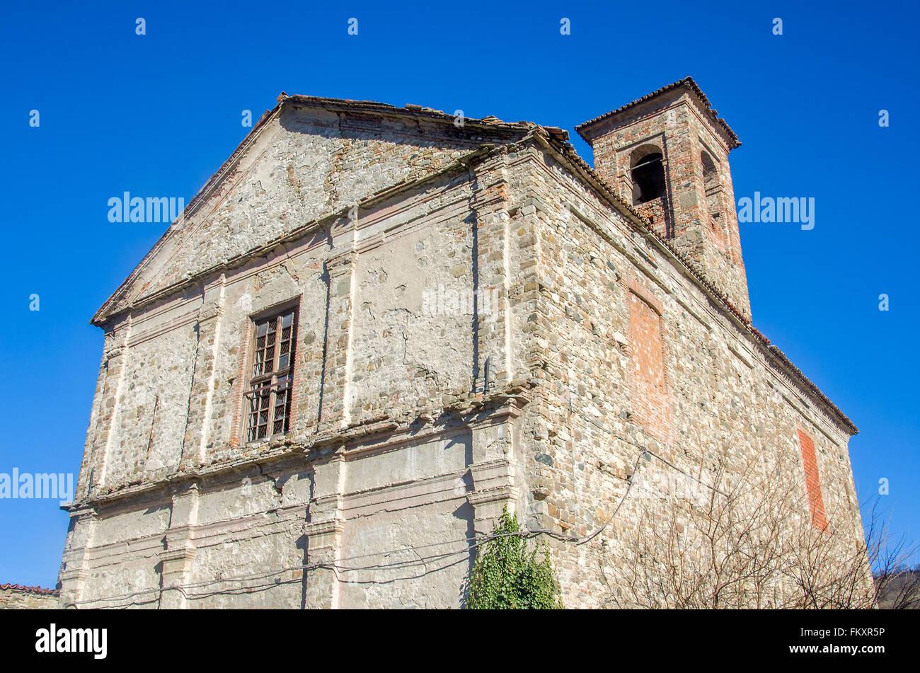 abandoned monastery in Bobbio - Piacenza - Italy - Stock Image