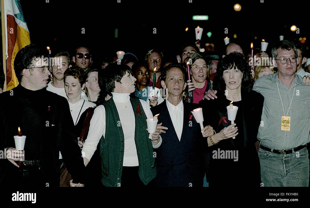 Washington, DC., USA, 10th October, 1992 Liza Minnelli, Joey Gray, Patti Austin, Lily Tomlin, Cleve Jones march - Stock Image