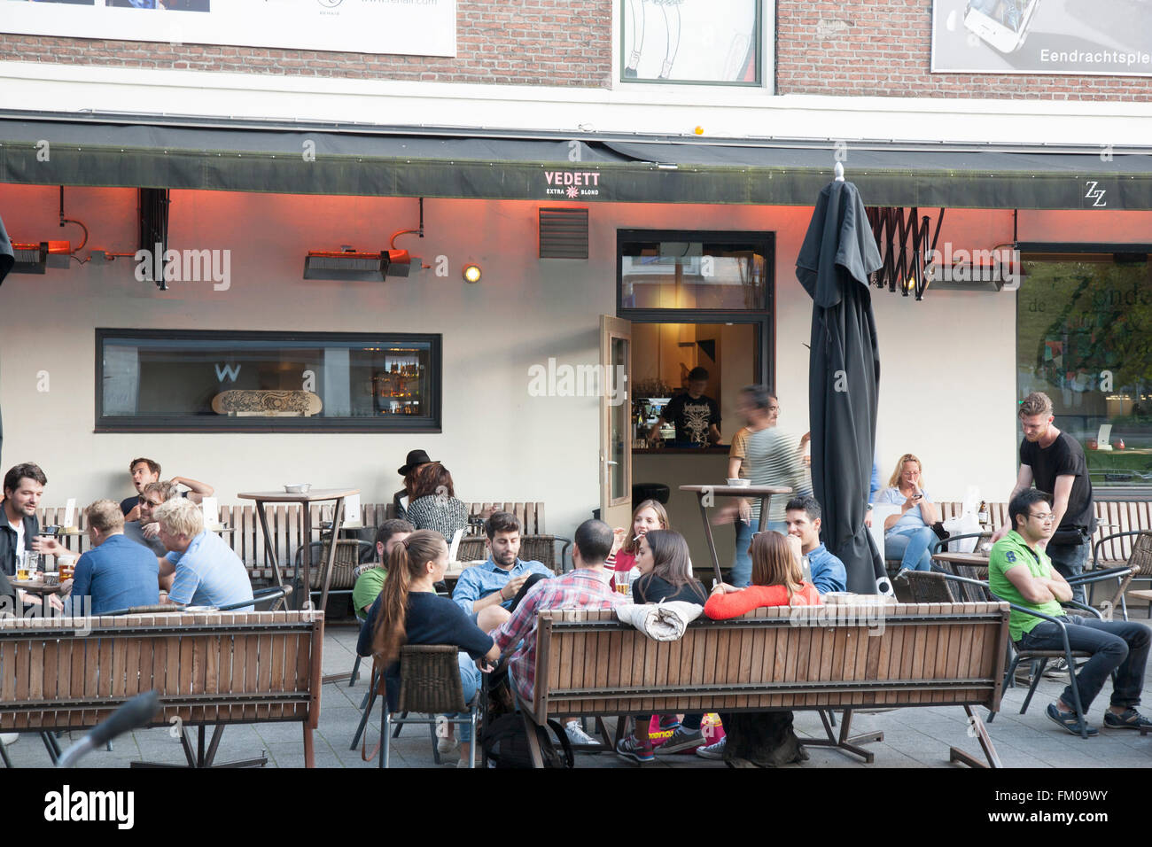 ZZ Cafe and Bar, Witte de Withstraat Street, Rotterdam, Europe - Stock Image