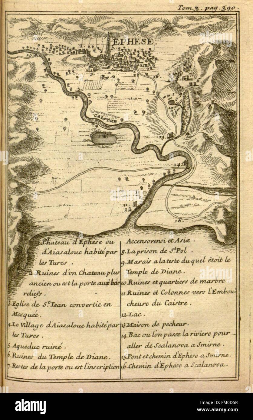 Relation d'un voyage du Levant (Plate 59) - Stock Image