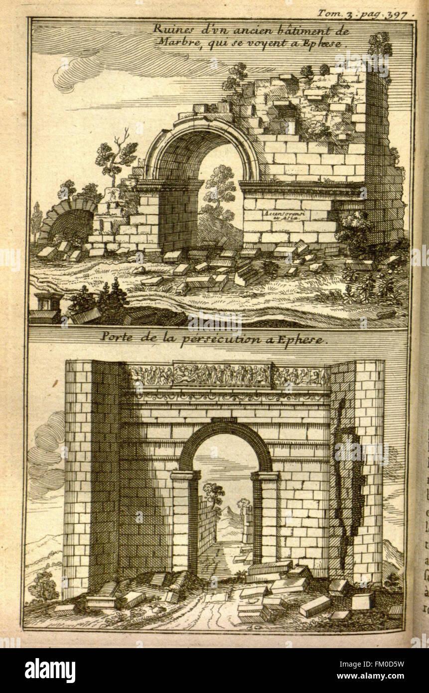 Relation d'un voyage du Levant (Plate 61) - Stock Image