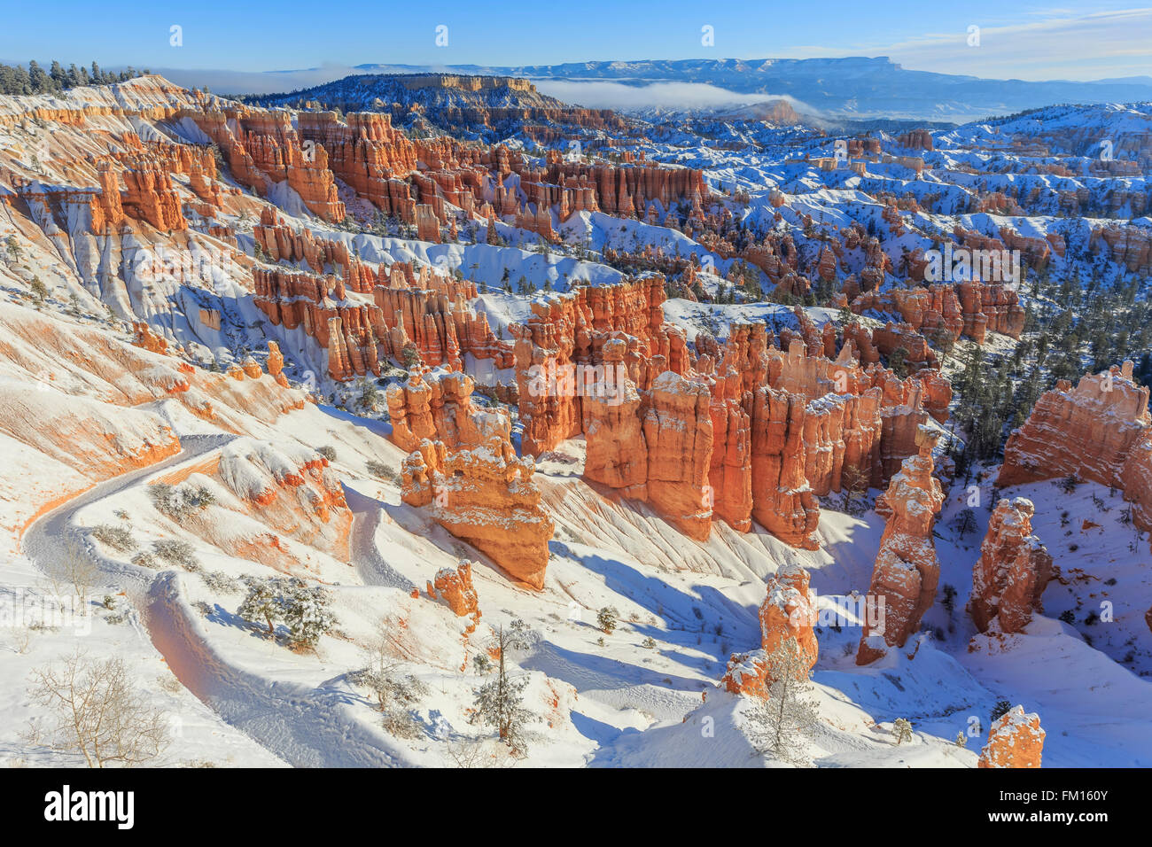 Superb view of Sunset Point, Bryce Canyon National Park at Utah - Stock Image