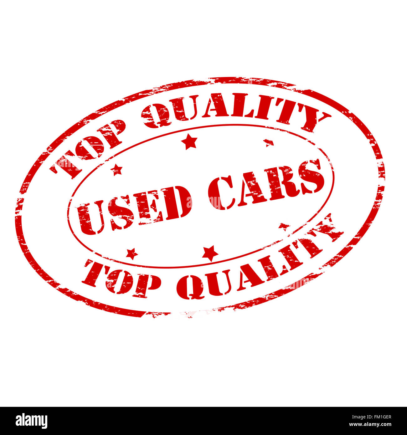 Rubber stamp with text used cars inside, vector illustration - Stock Image