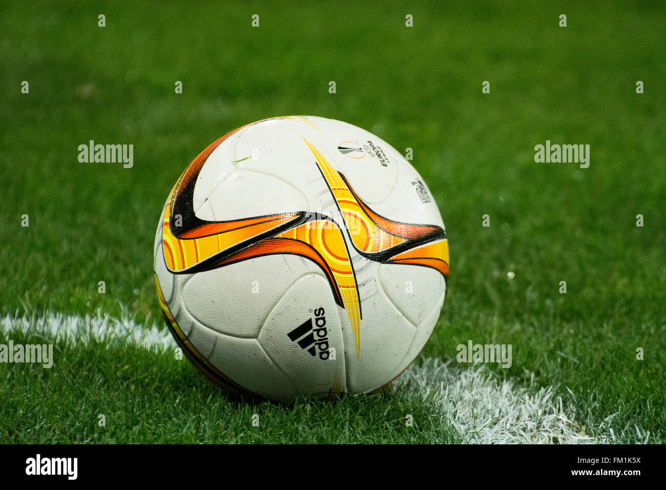 Bilbao, Spain. 10th March, 2016. The ball during football match of round of 16 of UEFA Europe League between Athletic - Stock Image