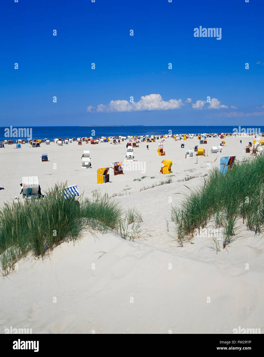 Norddorf, Kniepsand beach, Amrum island, North Sea, Schleswig-Holstein, Germany, Europe - Stock Image