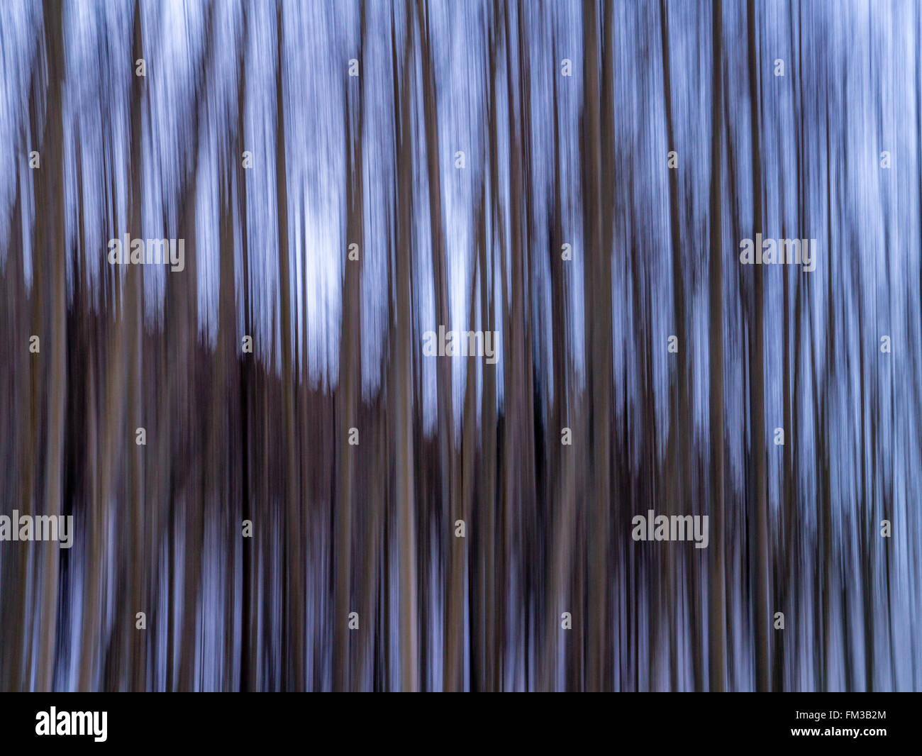 Landscape orientation  of stripes, blues and greys - Stock Image