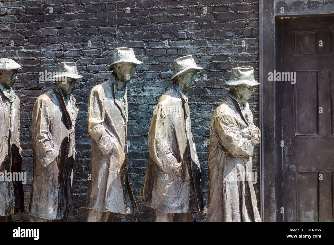 Bread Line At Roosevelt Memorial - Stock Image