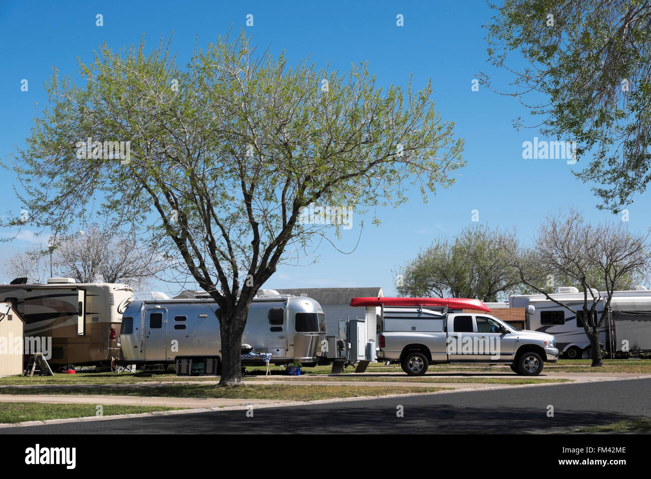 residential site at an RV resort in Alamo, Texas - Stock Image