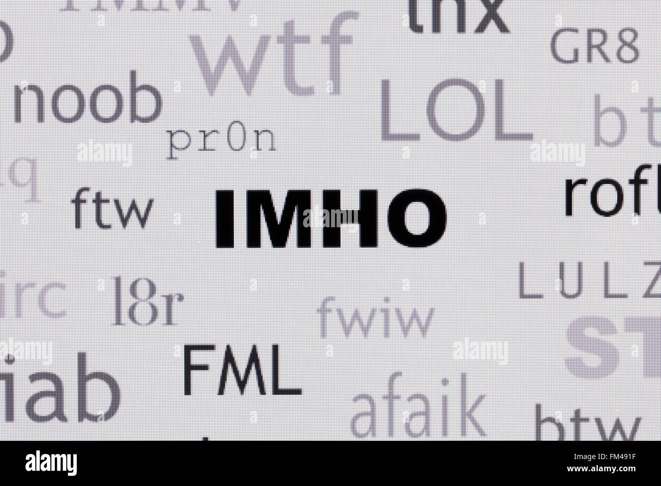 Abbreviations Stock Photos & Abbreviations Stock Images - Alamy