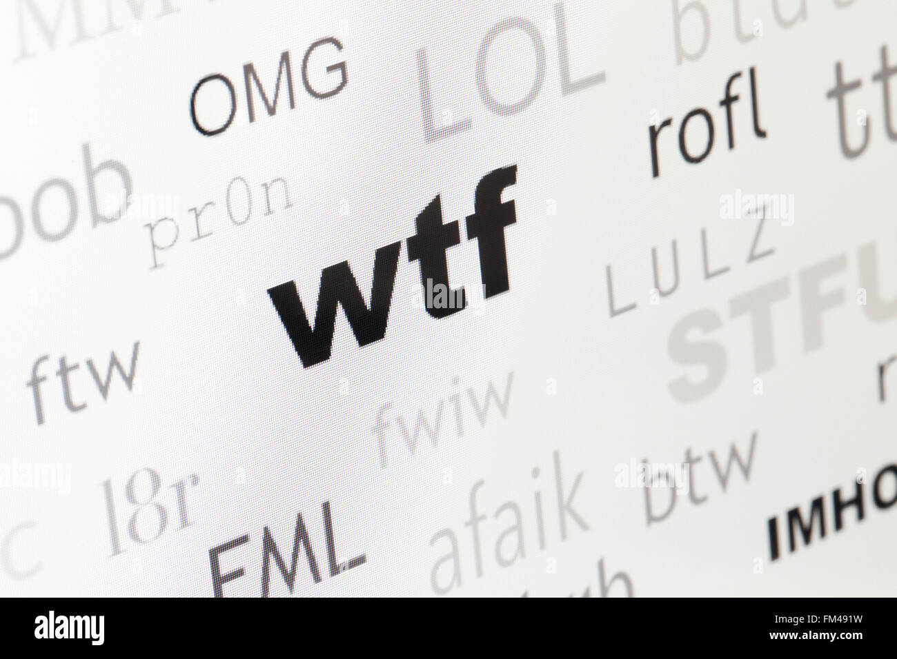 Wtf Stock Photos & Wtf Stock Images - Alamy