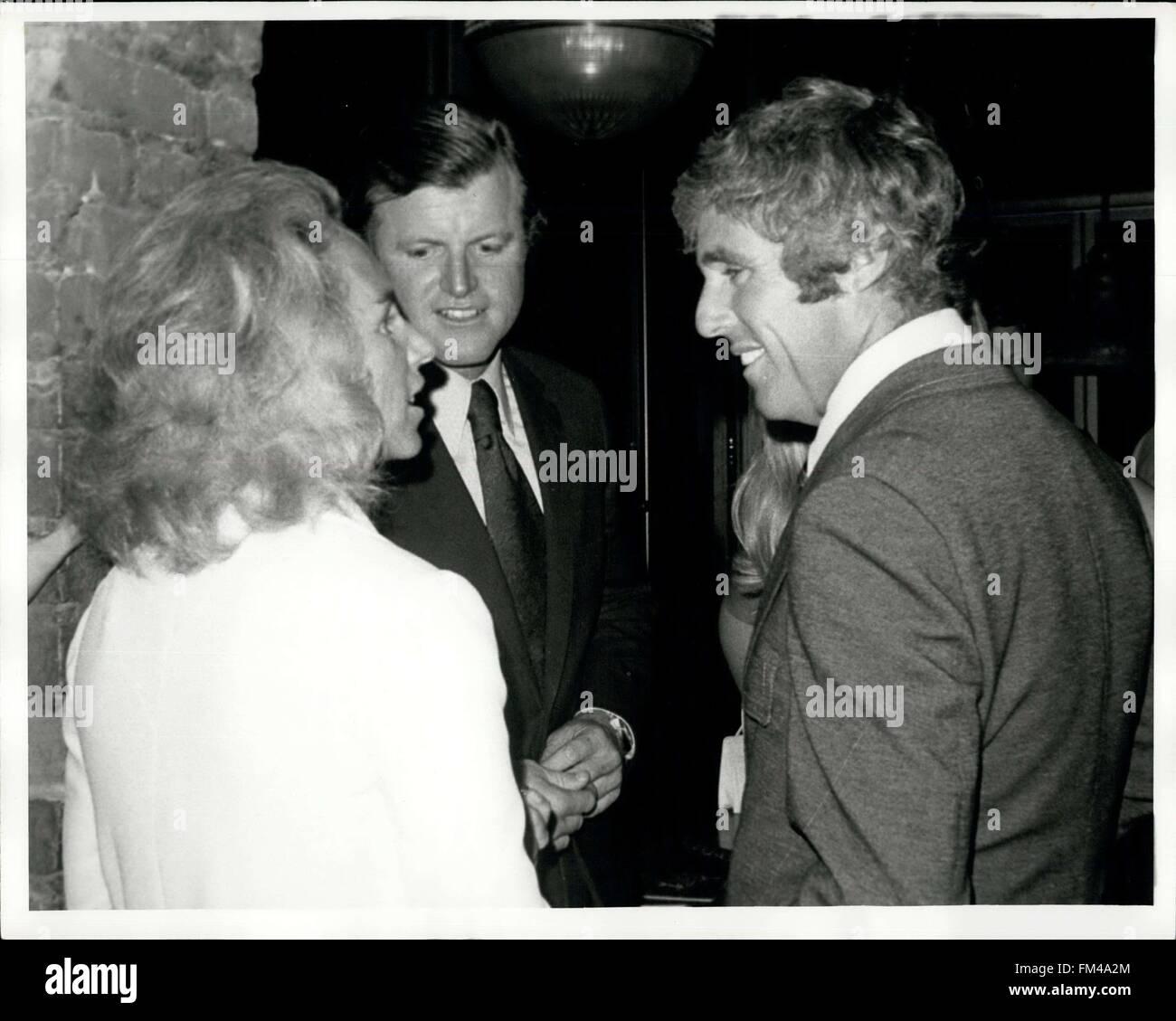 1971 - Ethel & Ted Kennedy, burt bacharach © Keystone Pictures USA/ZUMAPRESS.com/Alamy Live News - Stock Image