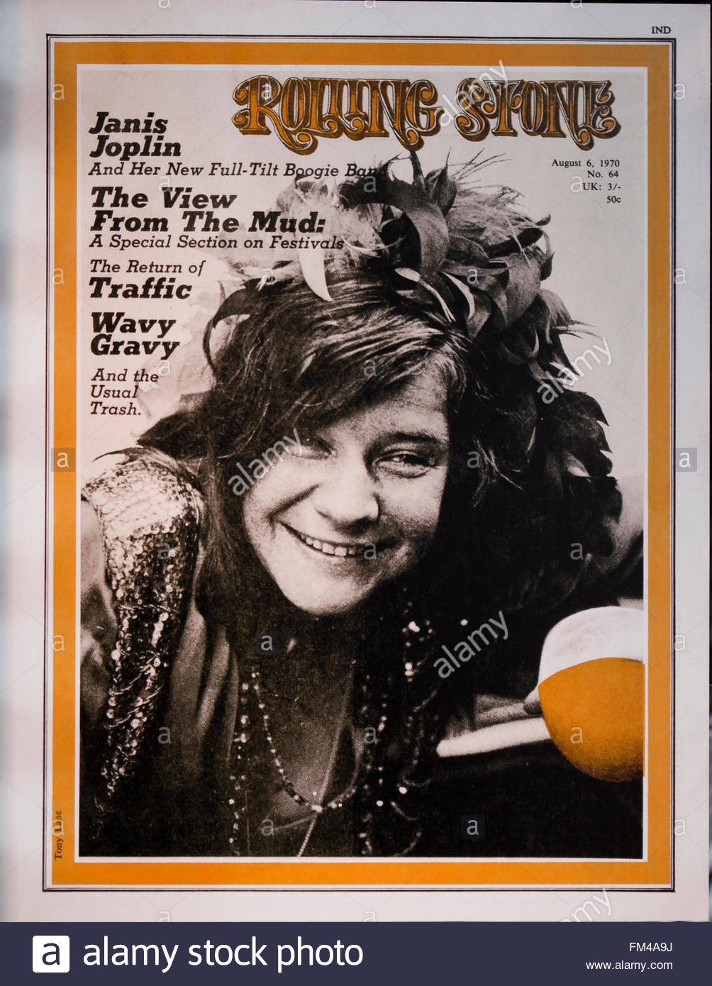 Rolling Stone magazine cover, August 6, 1970 issue - USA - Stock Image