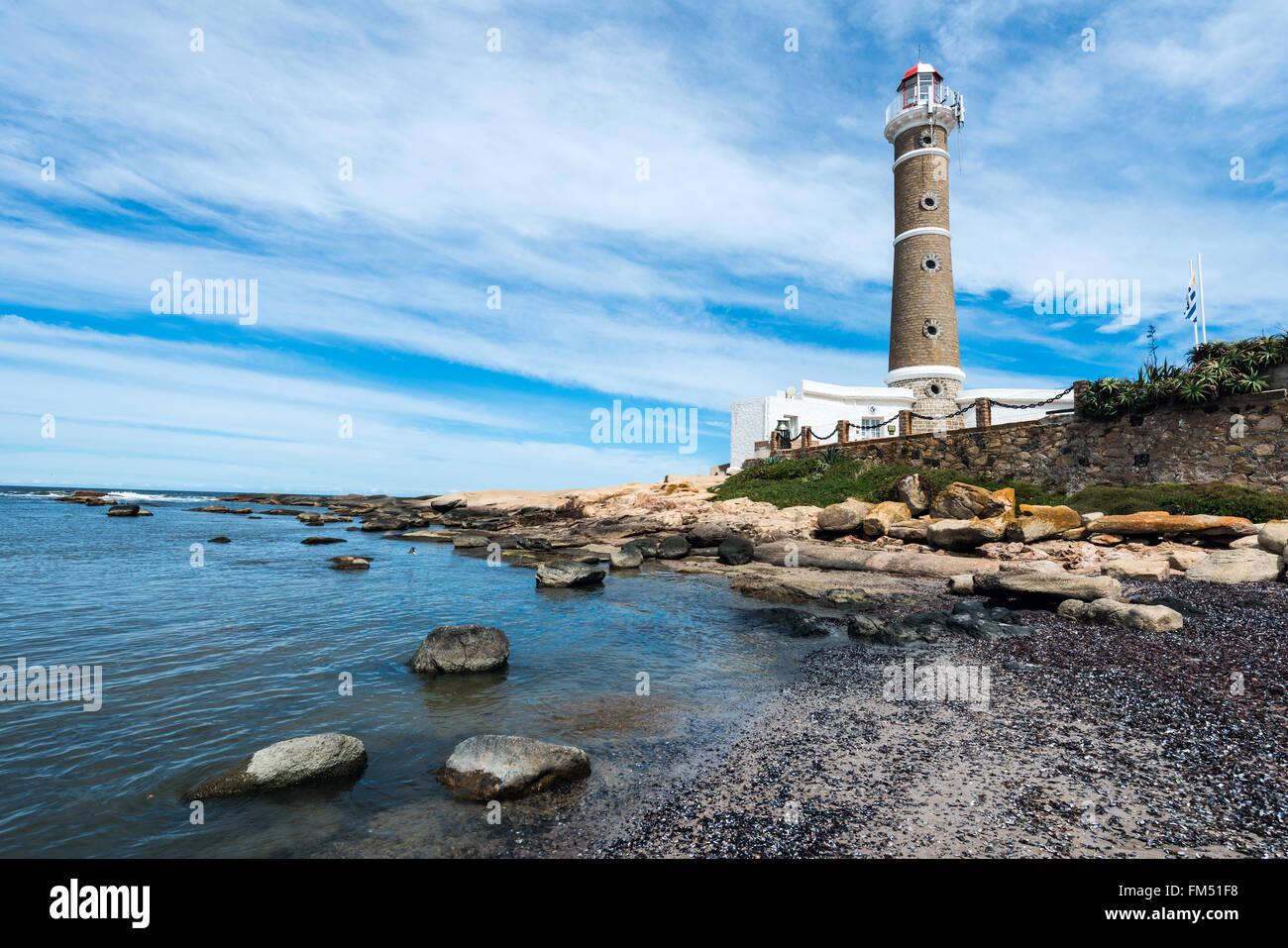 Lighthouse in Jose Ignacio near Punta del Este, Uruguay - Stock Image