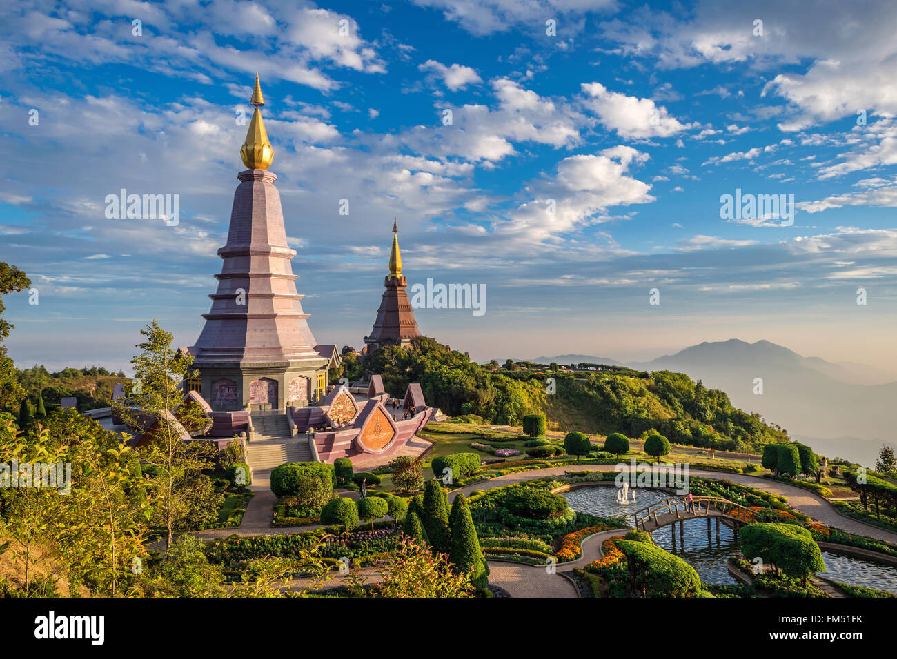 Sunset at Doi Inthanon, Chiang mai, Thailand - Stock Image