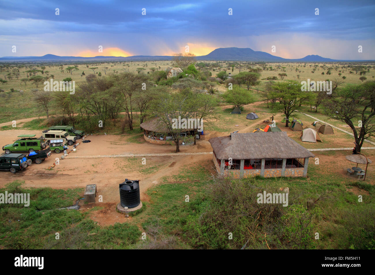 The Pimbi safari camp in the Serengeti, Tanzania - Stock Image