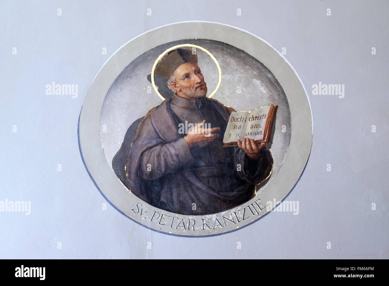 Saint Peter Canisius, fresco in the Basilica of the Sacred
