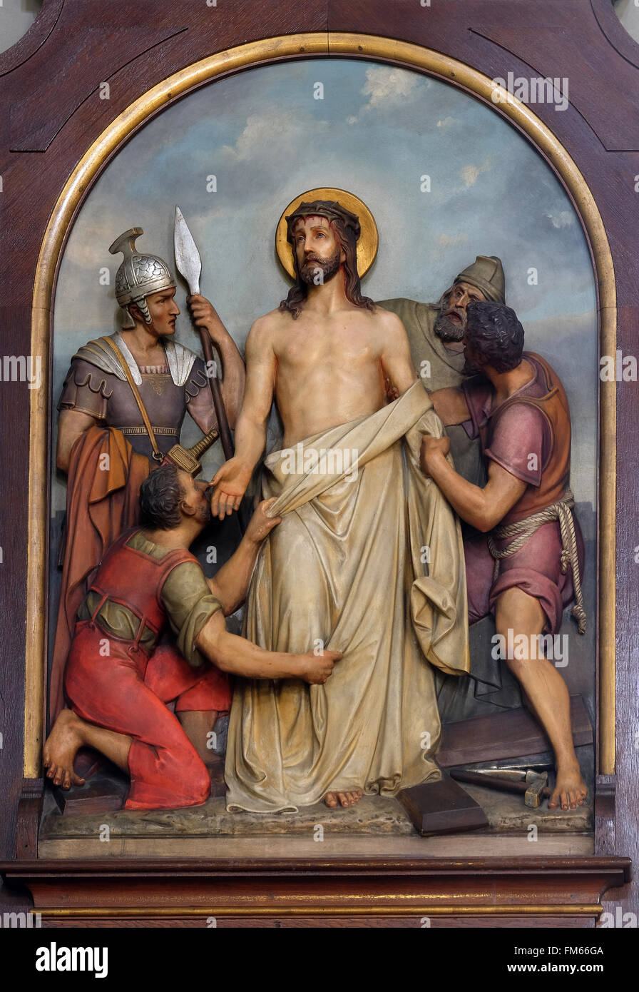 10th Stations of the Cross, Jesus is stripped of His