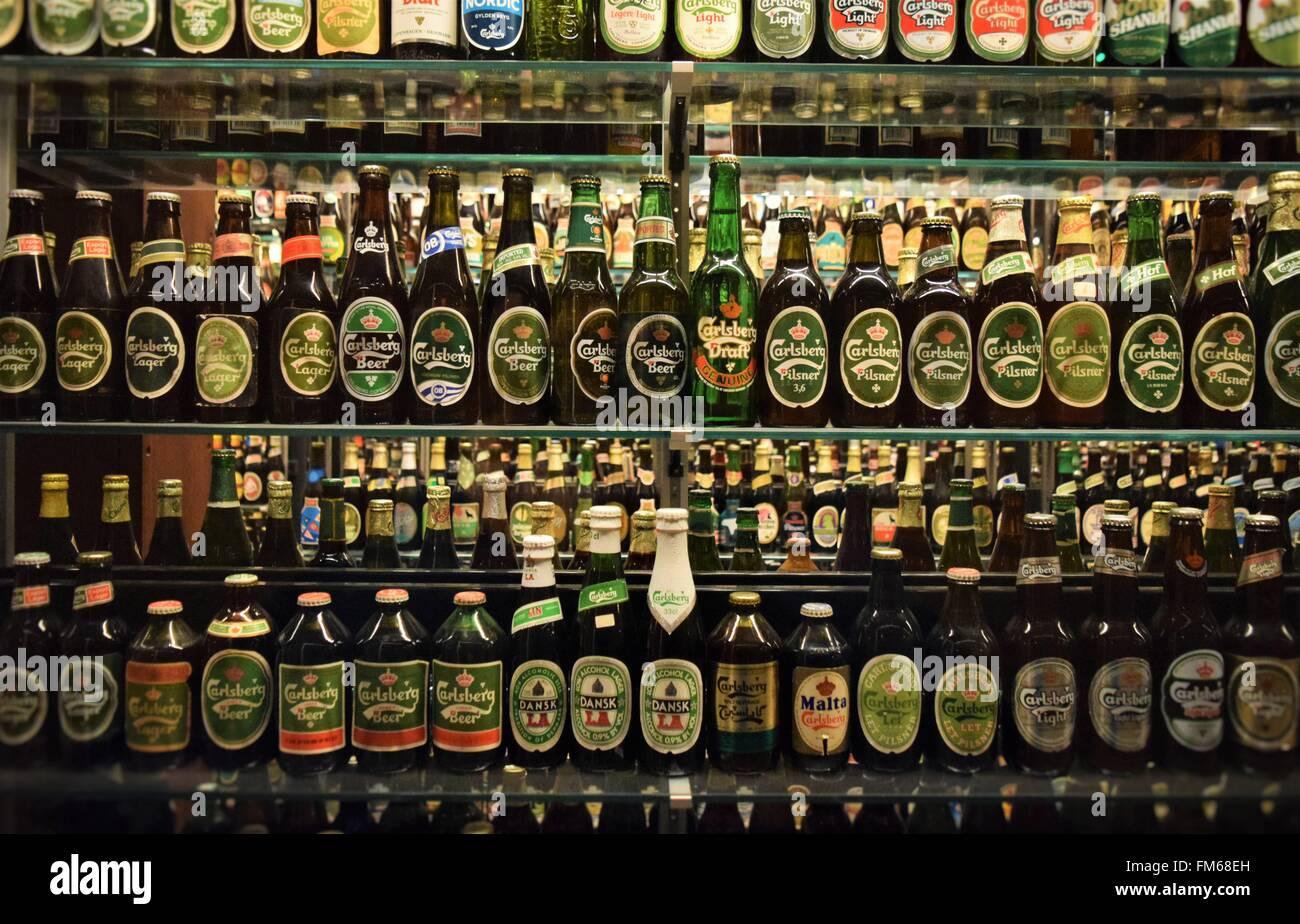 Carlsberg brewery museum in Copenhagen - Stock Image