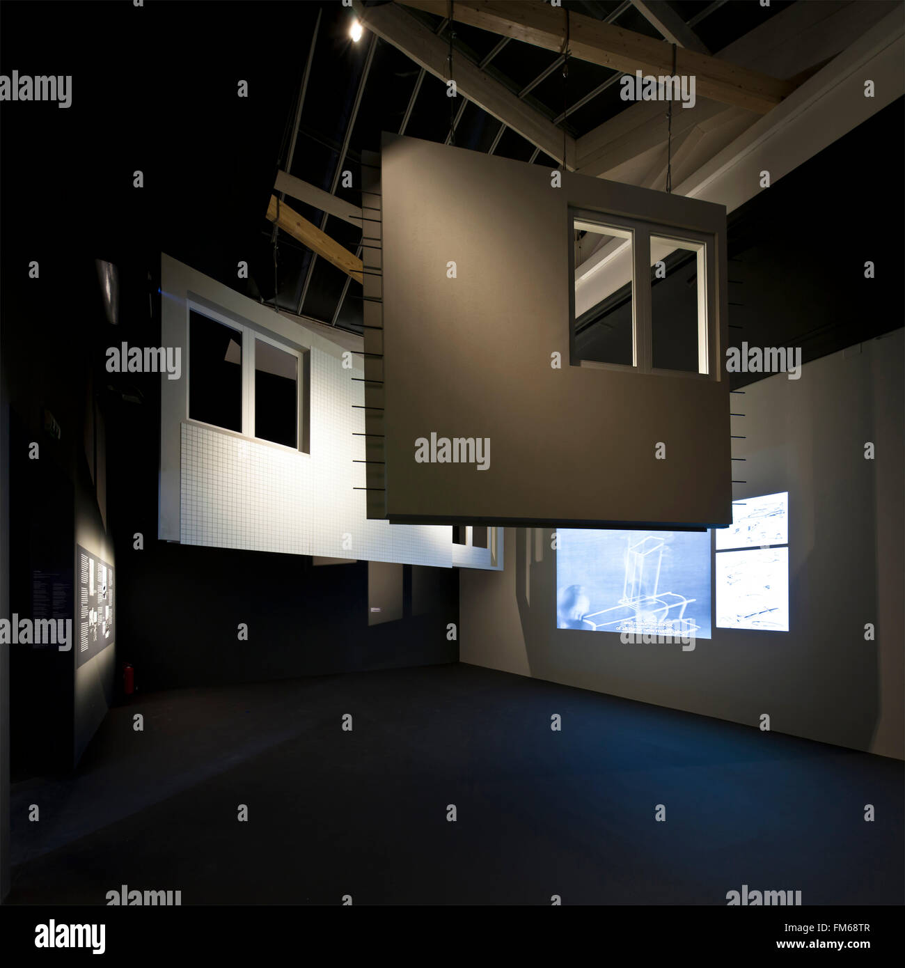 An interior view of the 2014 Venice Biennale - French National Pavilion. - Stock Image