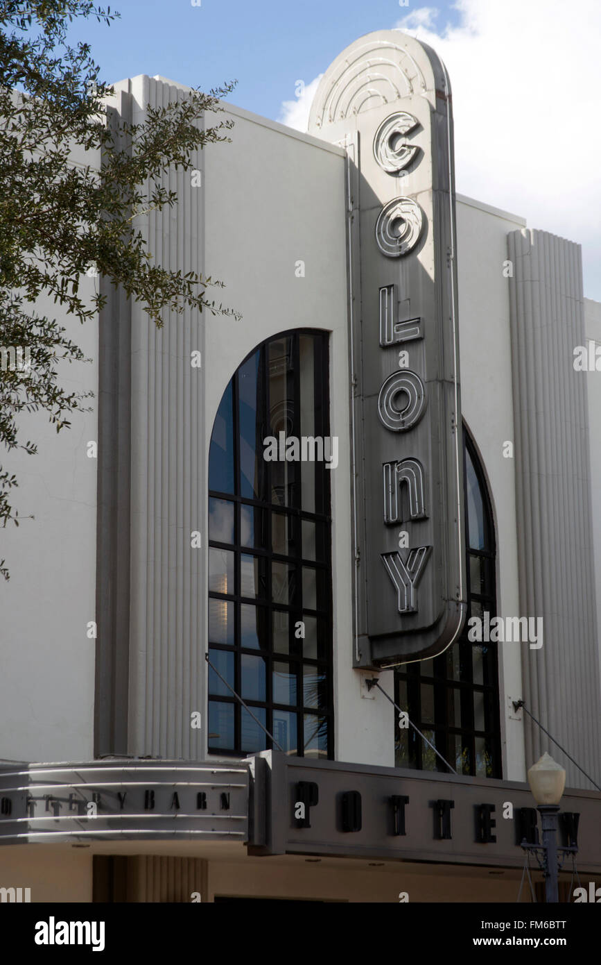An Exterior View Of An Art Deco Theatre In Orlando From The Main Stock Photo Alamy
