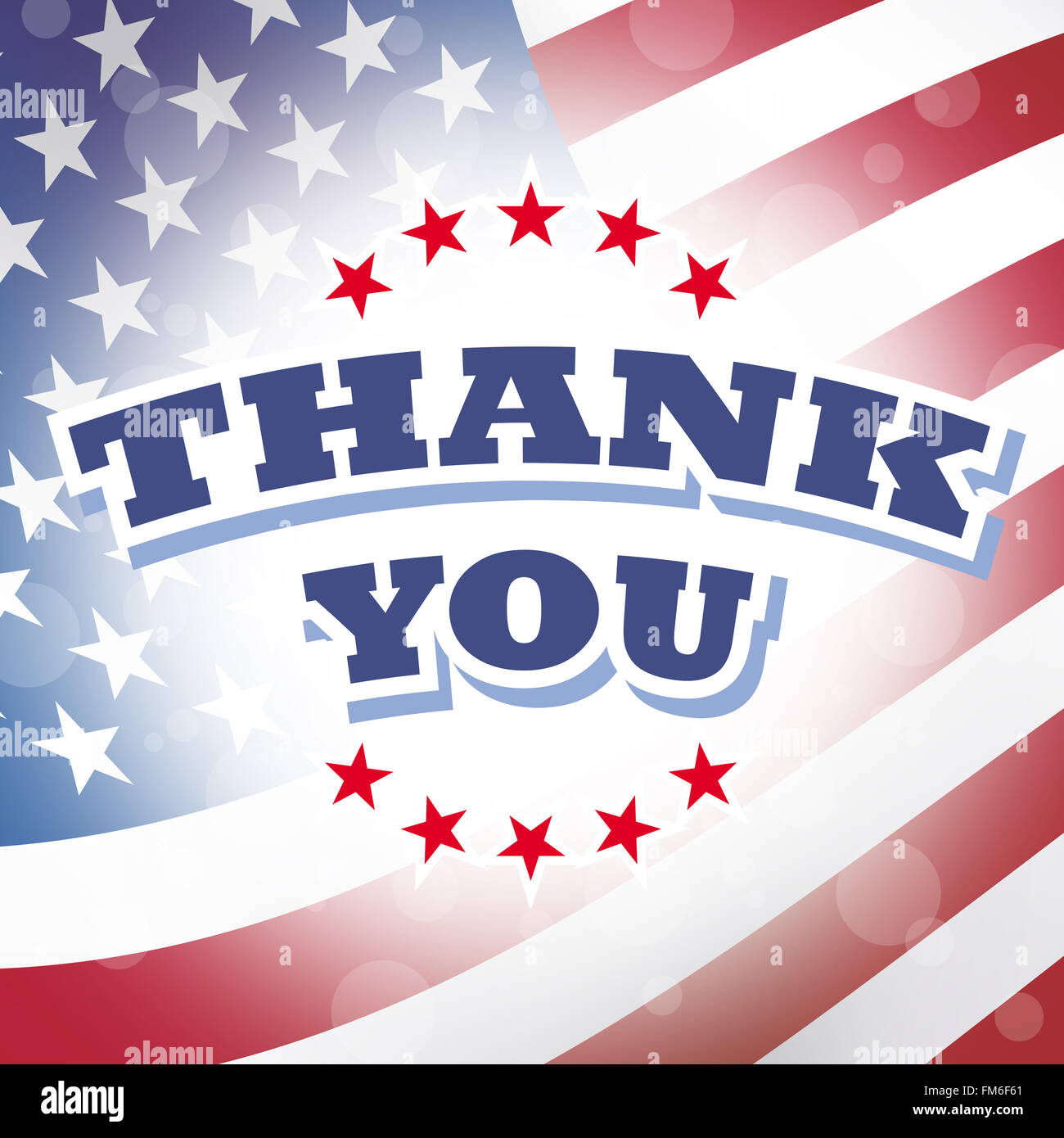 e20a6495a3b thank you banner with american flag background Stock Photo  98488601 ...