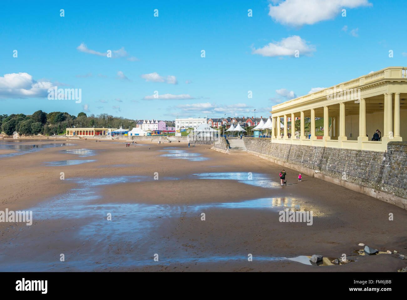 Whitmore Bay, a popular beach and tourist and visitor resort on Barry Island, south Wales Stock Photo
