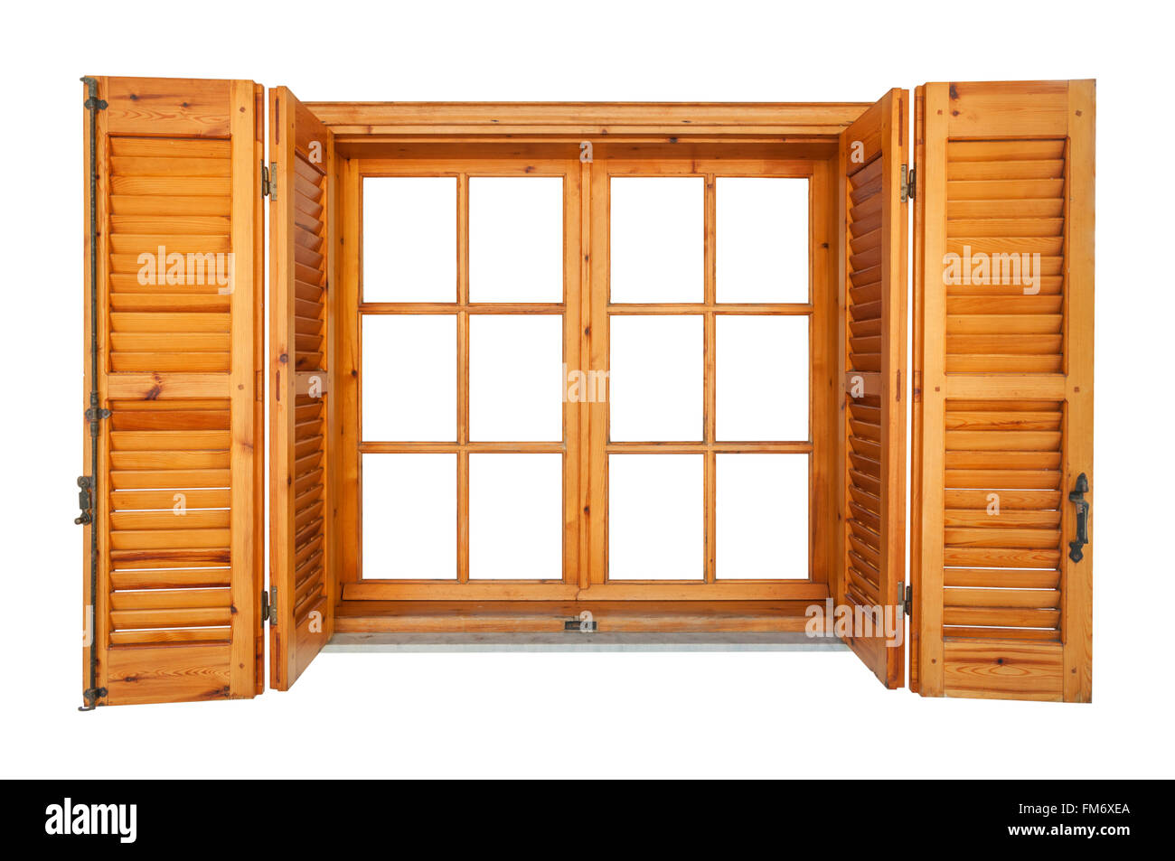 Weathered window shutters stock photos weathered window shutters wooden window with shutters isolated on white exterior side stock image sisterspd