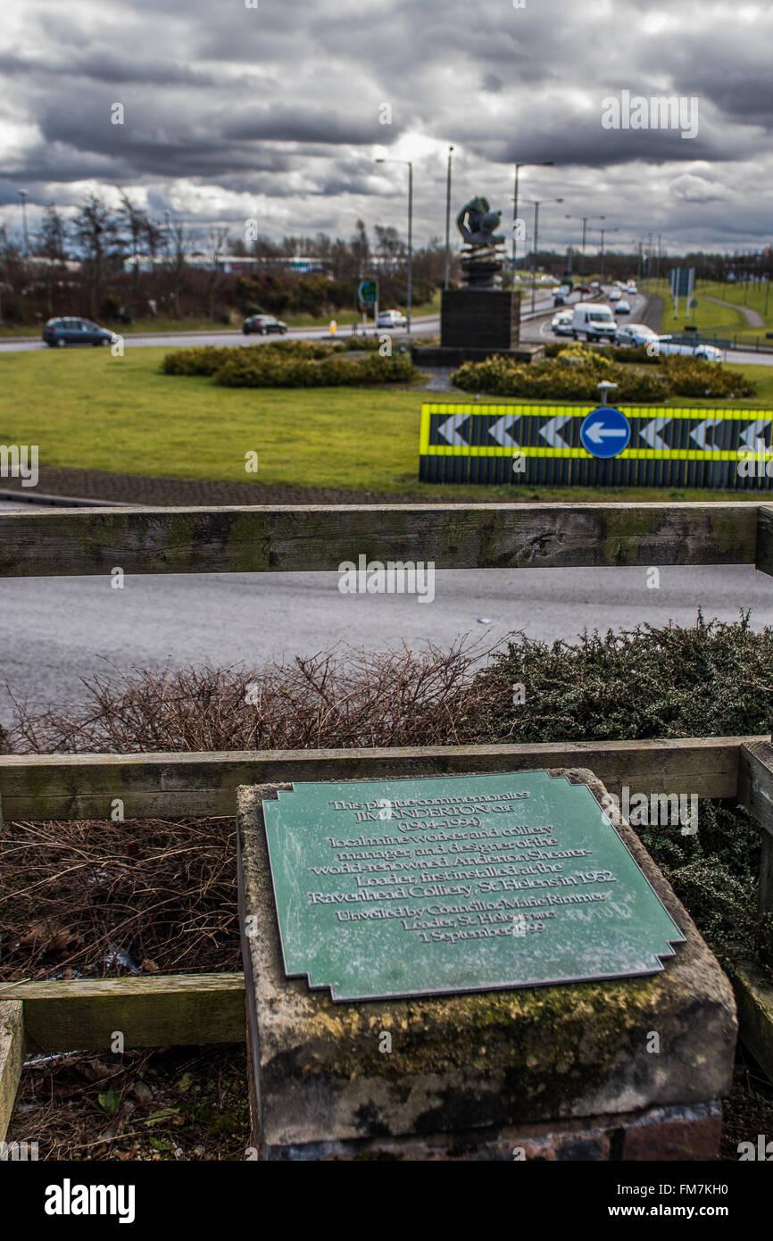 st helens town Lancashire/merseyside - Stock Image