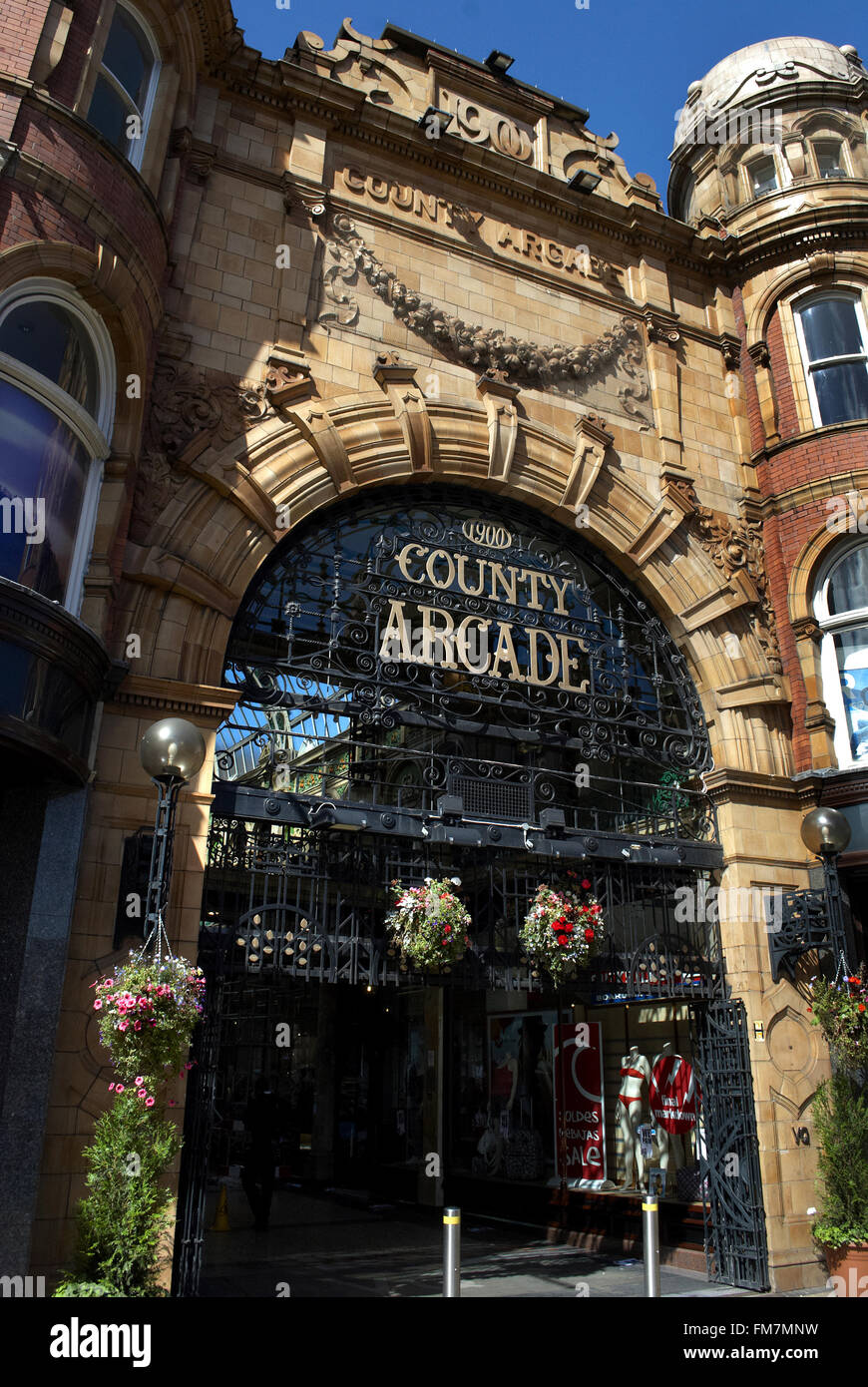 The County Arcade, Victoria Quarter, Leeds, West Yorkshire - Stock Image