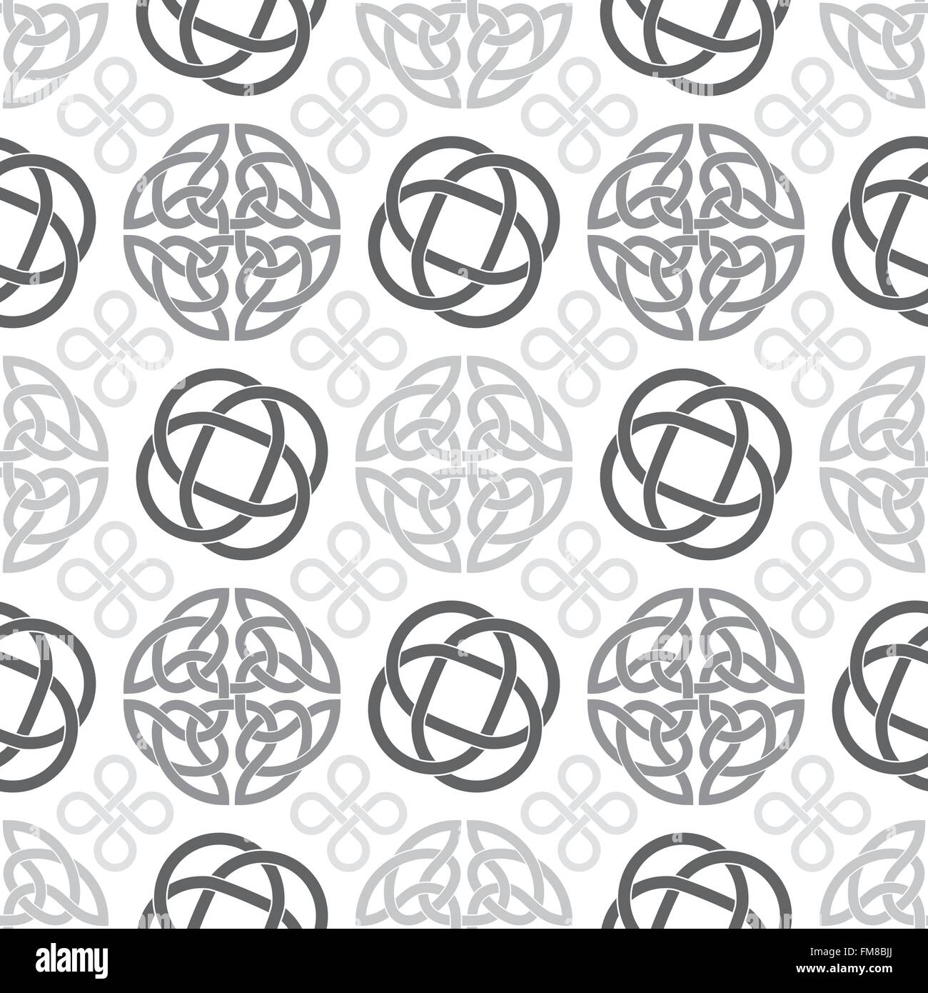 Seamless Pattern With Celtic Knot Symbols Stock Vector Art
