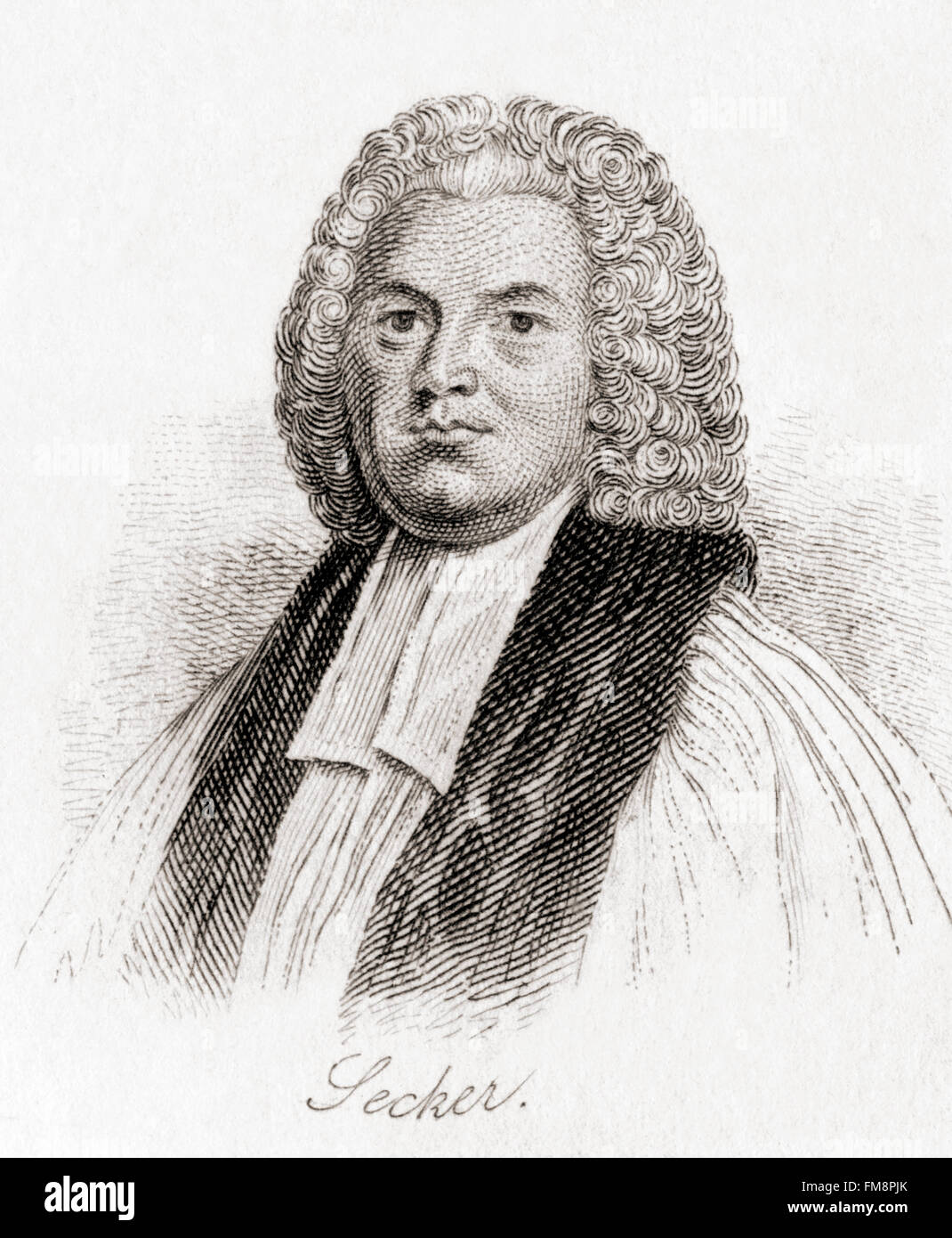 Thomas Secker, 1693 – 1768.  Archbishop of Canterbury in the Church of England. - Stock Image