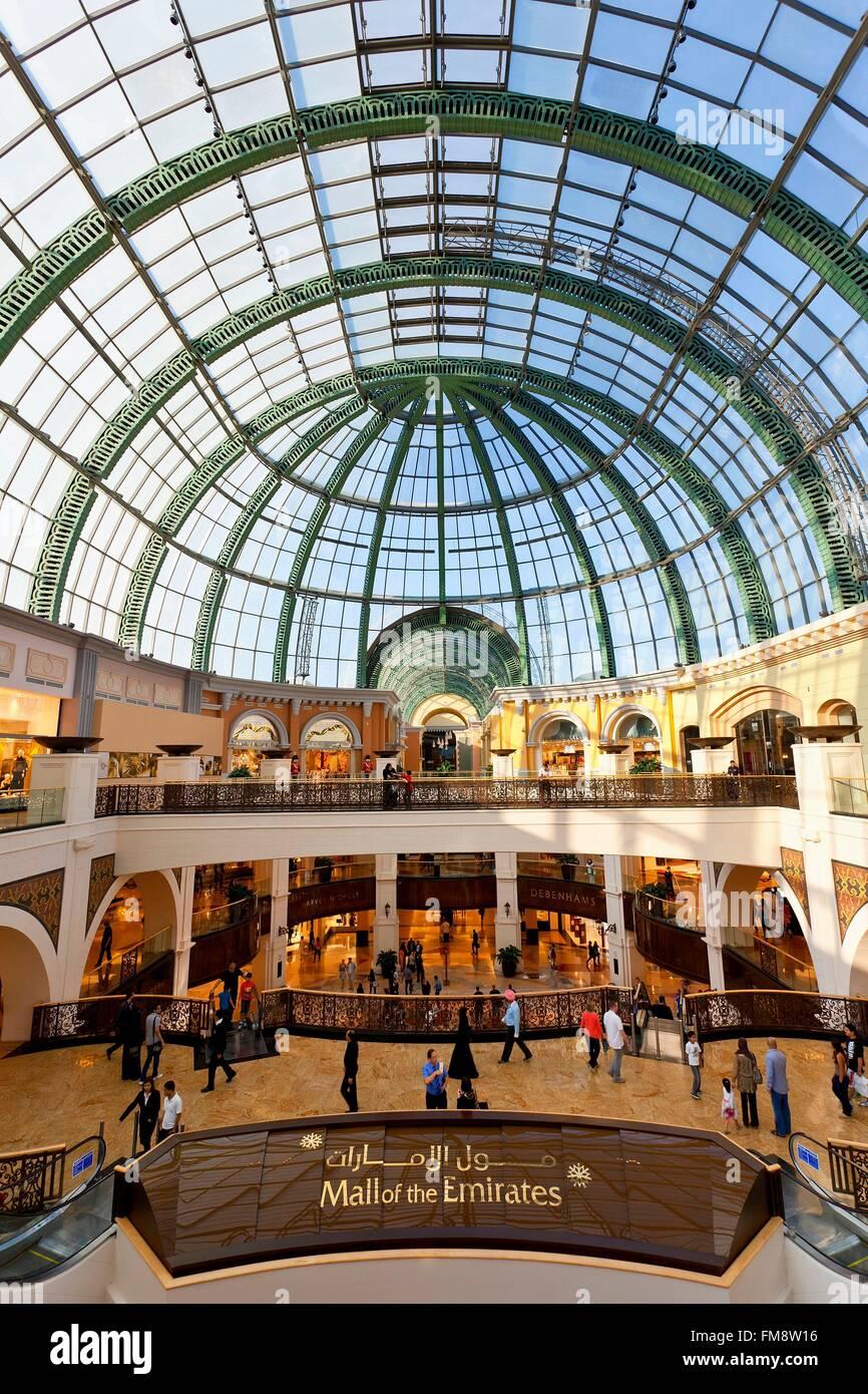 United Arab Emirates, Dubai, the mall of Emirates - Stock Image