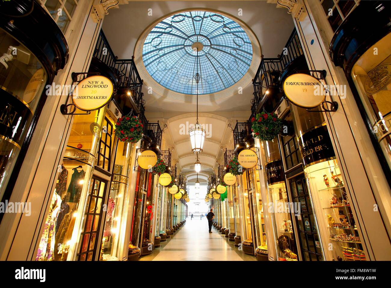 United Kingdom, London, Piccadilly Arcade - Stock Image
