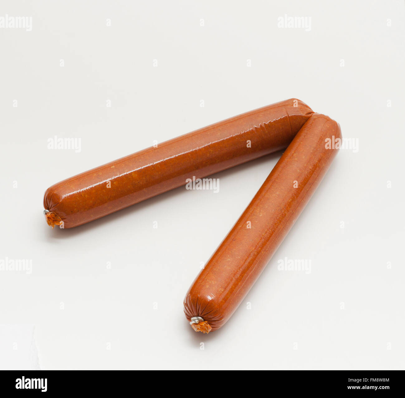 Soy Chorizo, Spanish-style vegetarian sausage from America, made with soya beans, flavoured with paprika, stuffed - Stock Image