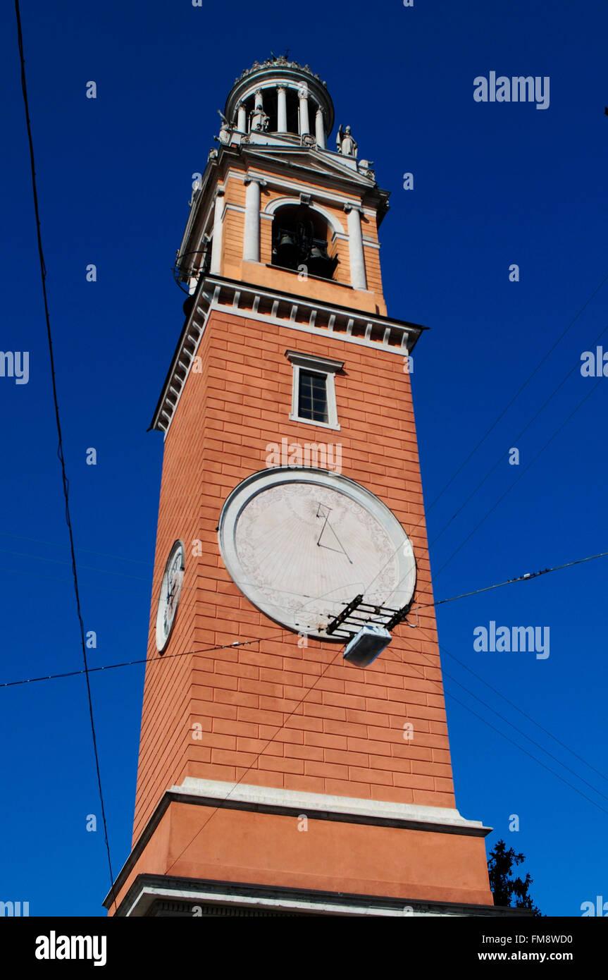 Italy, Lombardy, Soresina, San Siro Belfry. - Stock Photo