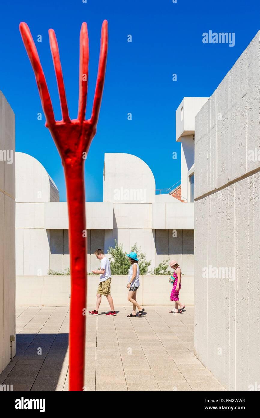 Spain Catalonia Barcelona Montjuic Joan Miro Foundation