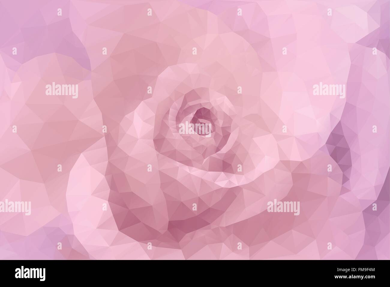 Abstract triangle polygon floral fashion gentle decorative pink wedding background - Stock Vector