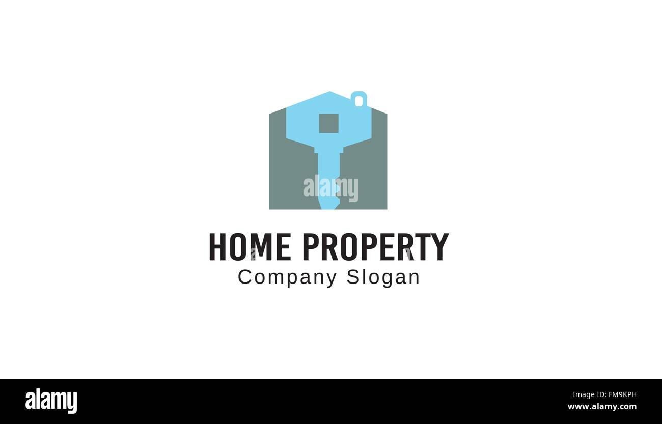 Home Property Design Illustration - Stock Vector