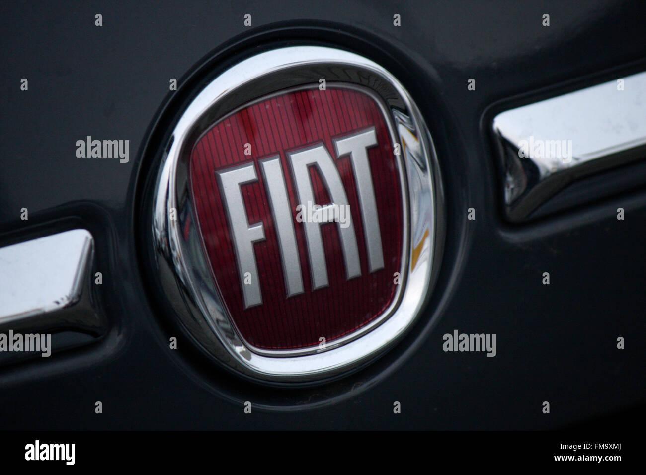 Markenname: 'Fiat', Berlin. - Stock Image