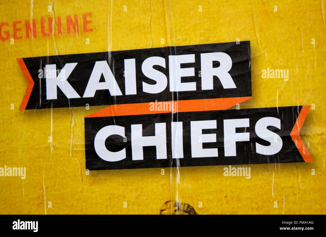 Logo der Band 'Kaiser Chiefs', Berlin. - Stock Image