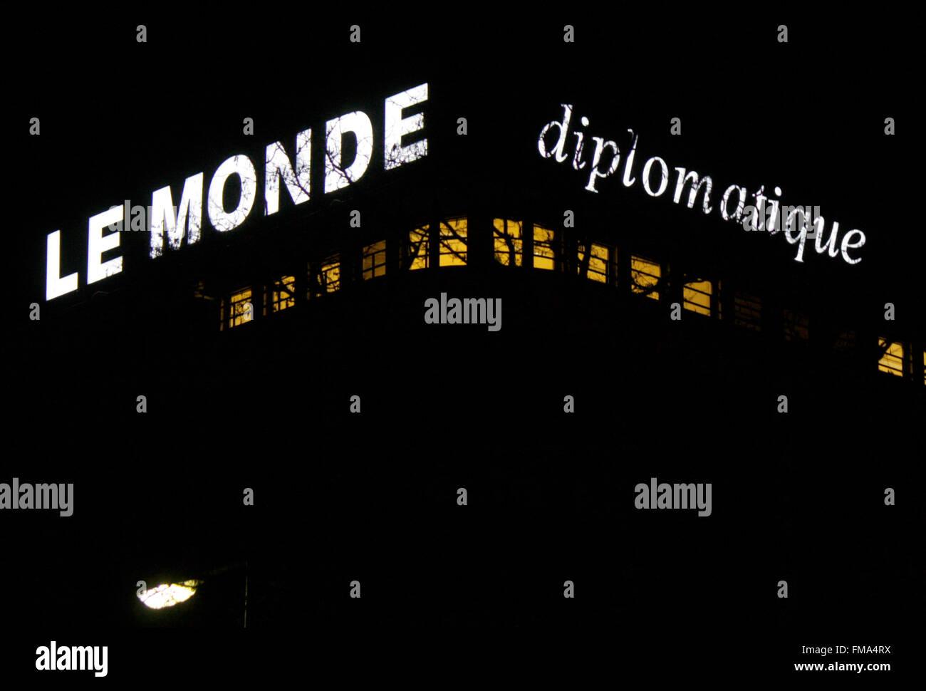 Markenname: 'Le Monde diplomatique', Dezember 2013, Berlin. - Stock Image